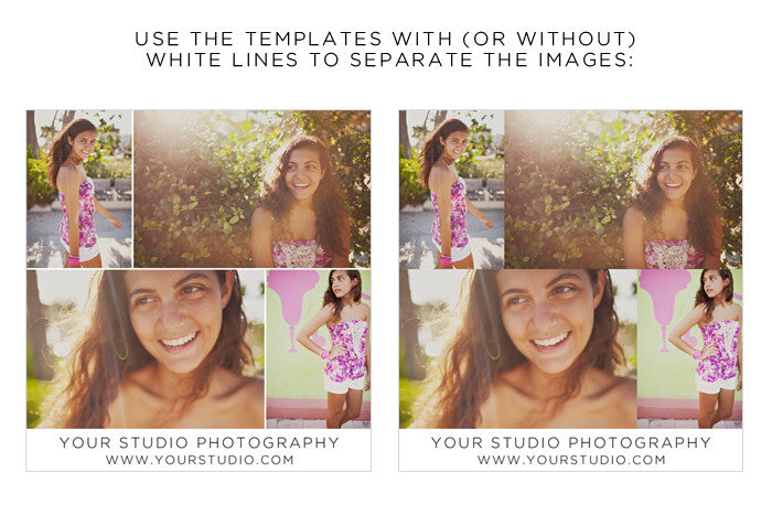 collage templates design aglow