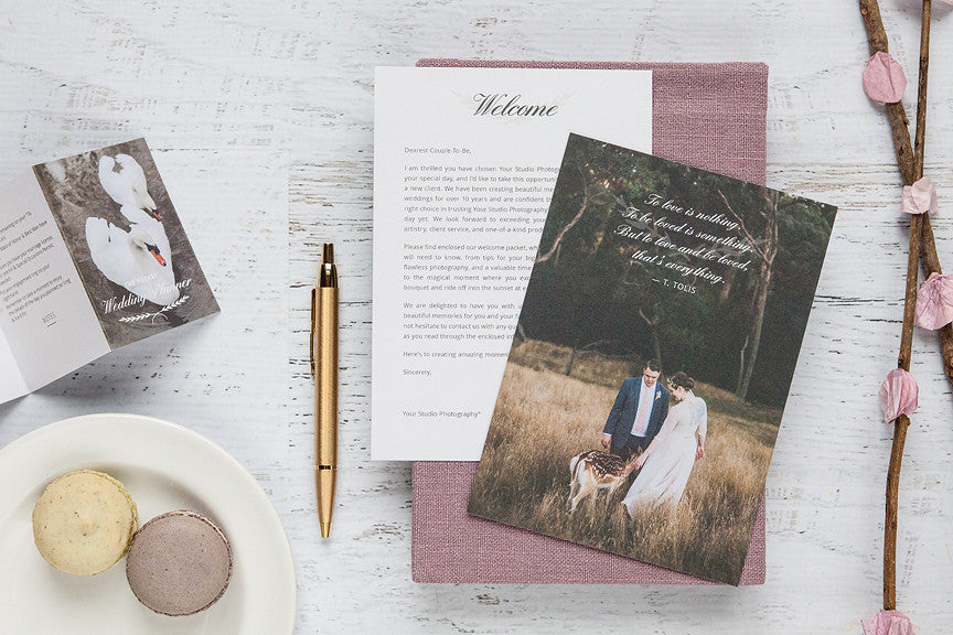 Wedding Photography Welcome Packet: Marketing Templates For Professional Wedding Photographers