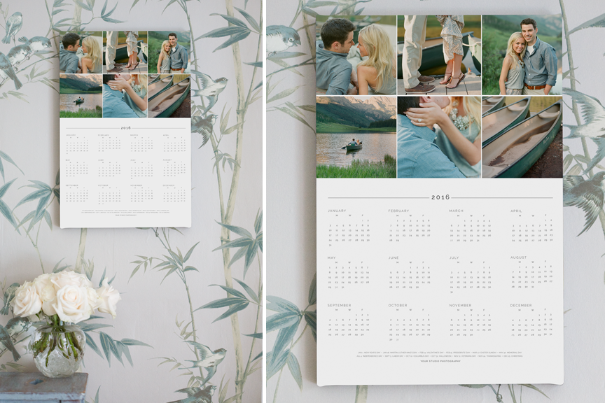 Photo Cards Calendars Design Aglow – Calendar Sample Design