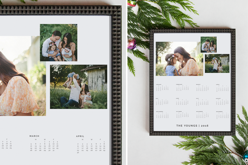 Custom Designer Calendar Photoshop Templates Design Aglow – Calendar Sample Design