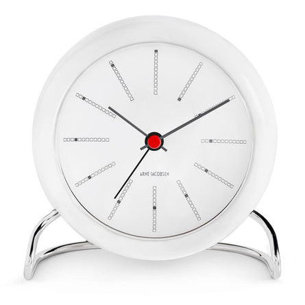 Arne Jacobsen Bankers Table Clock 11cm, White