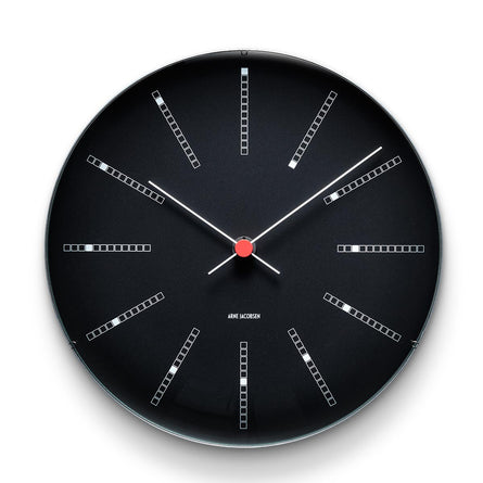 Arne Jacobsen Bankers Wall Clock 21cm, Black