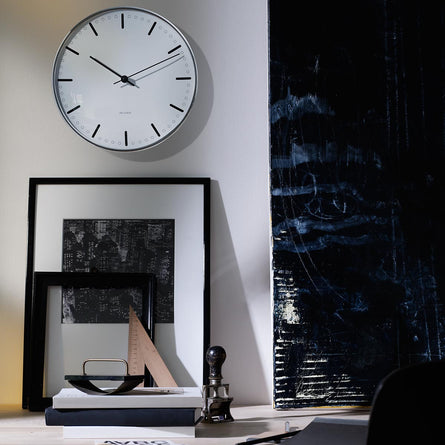 Arne Jacobsen City Hall Wall Clock, Black/White