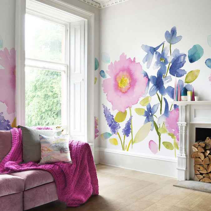 Bluebellgray Florrie Mural Wallpaper
