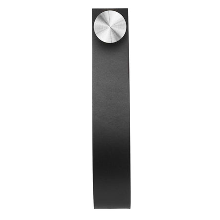 by Lassen Stropp Wall Hook, Black & Stainless Steel, 2 pcs