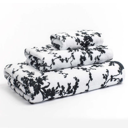 Calvin Klein Home Marcel Towels, White/Black
