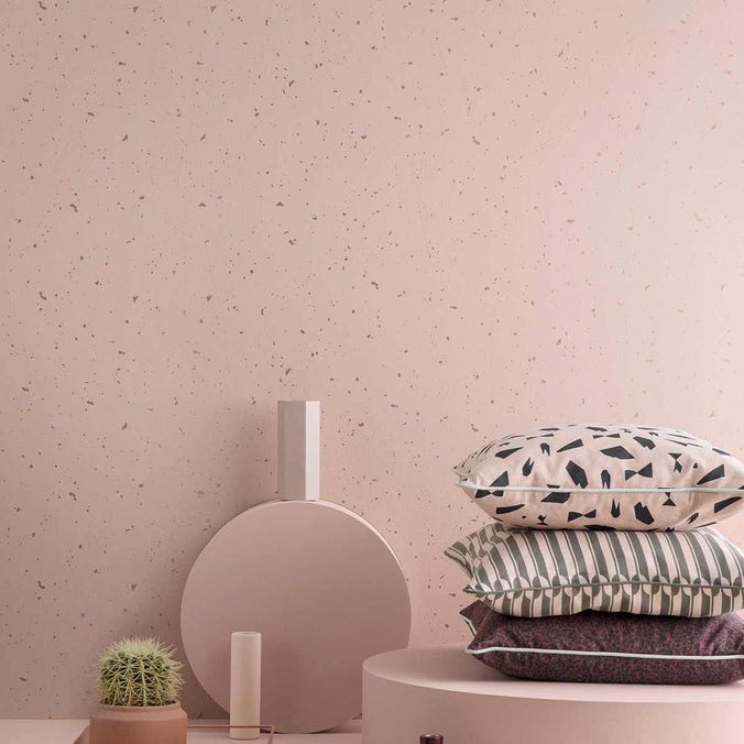 Ferm Living Confetti Wallpaper, Rose