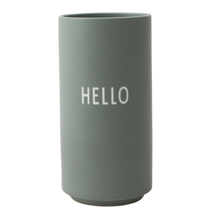 Design Letters Favoruite Vase Green, Hello