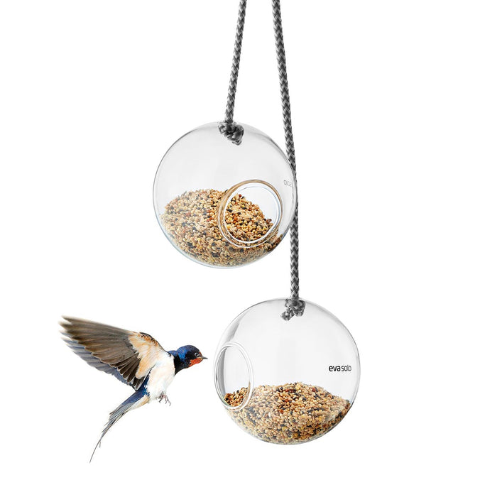 Eva Solo Glass Bird Feeders, Set of 2