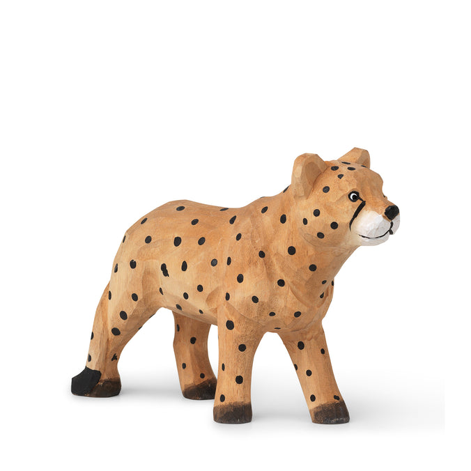Ferm Living Hand-Carved Animal Toy, Cheetah