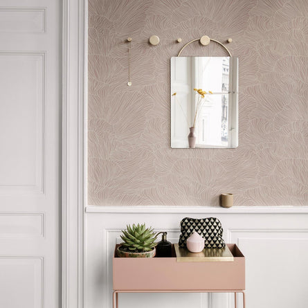Ferm Living Coral Wallpaper, Dusty Rose Beige