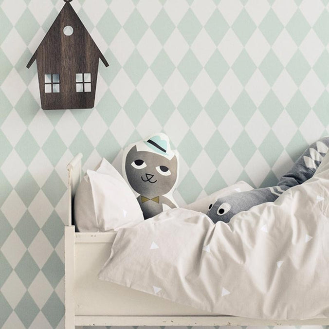 Ferm Living Harlequin Wallpaper, Mint