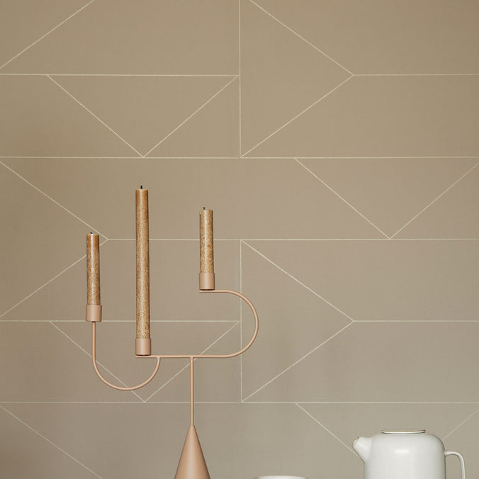 Ferm Living Lines Wallpaper, Cashmere