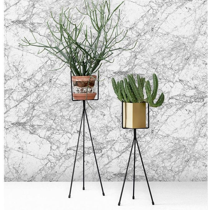 Ferm Living Marble Wallpaper, Grey