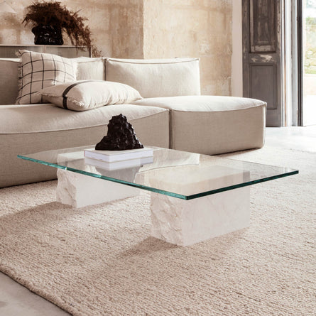 Ferm Living Mineral Coffee Table, Bianco Curia