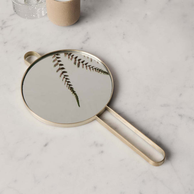 Ferm Living Poise Hand Mirror, Brass