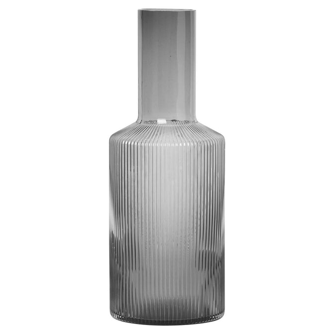 Ferm Living Ripple Carafe, Smoked Grey