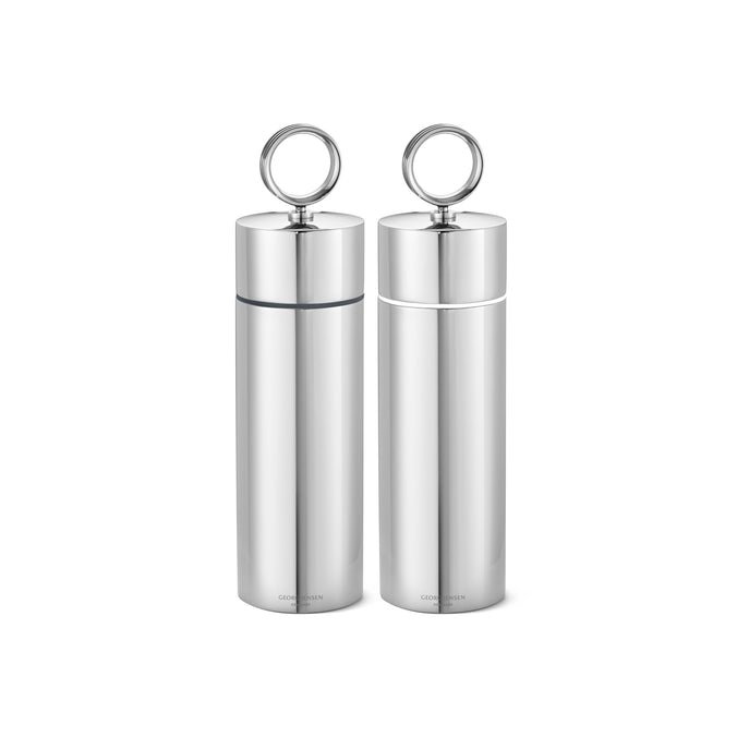 Georg Jensen Bernadotte Salt & Pepper Grinder Set Stainless Steel, Mirror