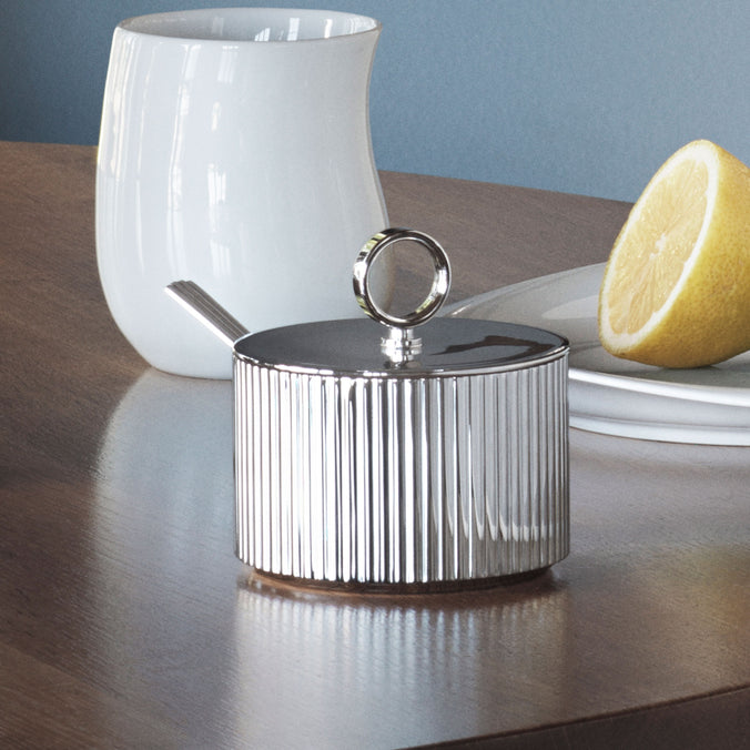 Georg Jensen Bernadotte Sugar Bowl Stainless Steel, Mirror