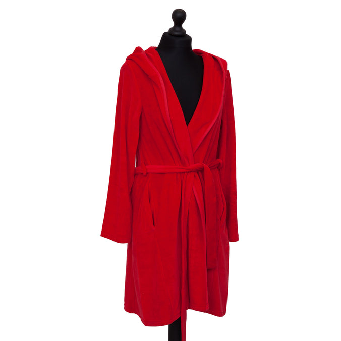 Farbenfreunde Bathrobe Short, Tomato Red