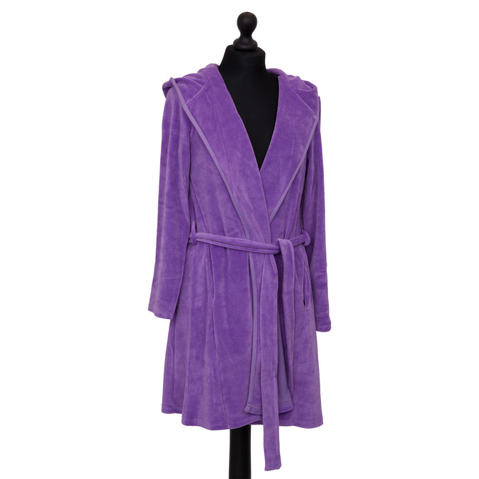 Farbenfreunde Bathrobe Short, Violet