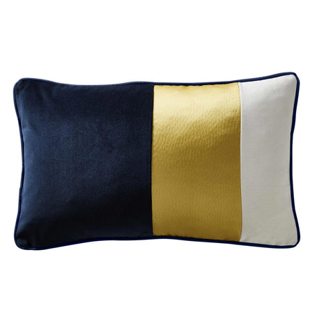 Karen Millen Colour Block Cushion, Midnight 50x30cm