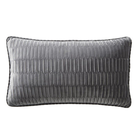 Karen Millen Velvet Pleat Cushion, 50x30cm