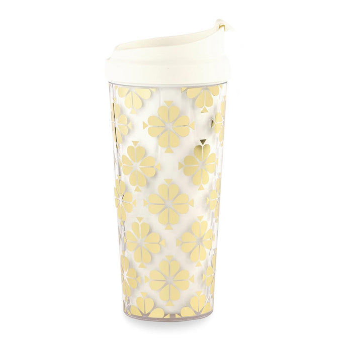 kate spade new york Thermal Mug, Gold Spade Flower