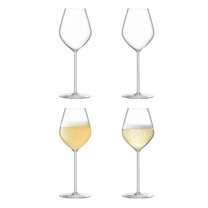 LSA Borough Champagne Tulip Glass 285ml, Set of 4