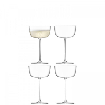 LSA Borough Cocktail Saucer 240ml, Set of 4