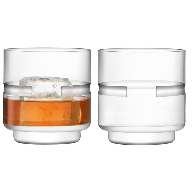 LSA Horizon Hand Cut Tumbler 350ml, Set of 2