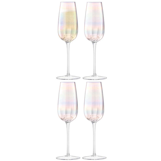 LSA Pearl Champagne Flute 250ml, Set of 4
