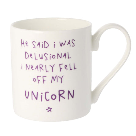 Mclaggan Smith Mugs I Nearly Fell Off My Unicorn Mug