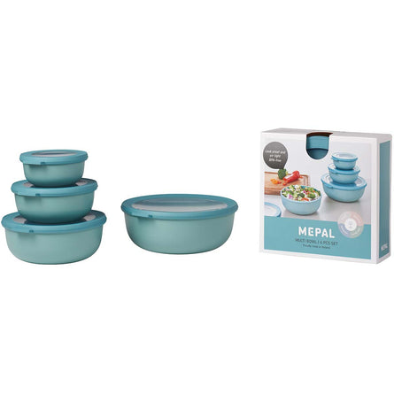 Mepal Cirqula Multi Bowl Set of 4 Wide