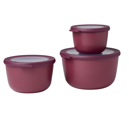 Mepal Cirqula Multi Bowl Set of 3, Deep