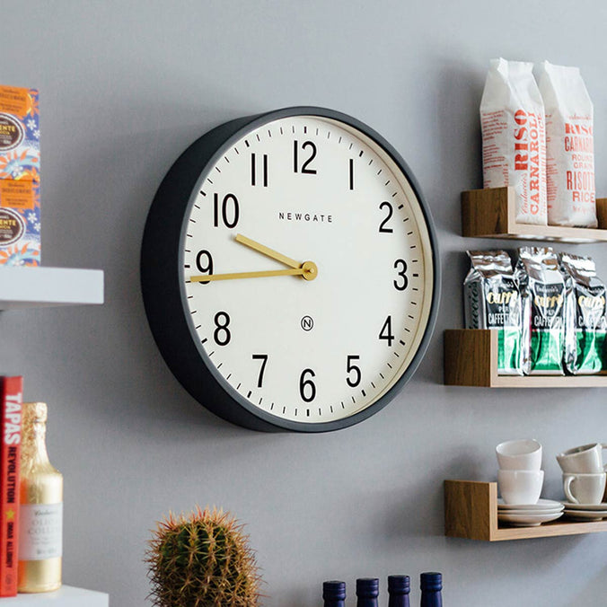 Newgate Clocks Mr Edwards Wall Clock, Matte Blizzard Grey