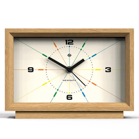 Newgate Clocks Hollywood Hills Mantel Clock, Light Oak