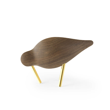 Normann Copenhagen Shorebird Small 20th Anniversary Edition, Walnut/Brass