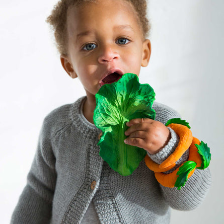 Oli & Carol Teether & Bath Toy, Kendall the Kale