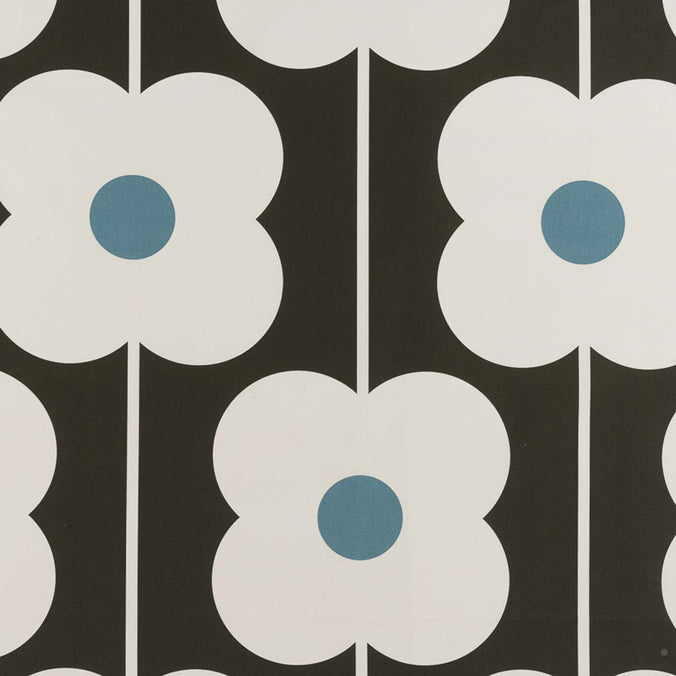 Orla Kiely Abacus Flower Fabric, Powder Blue