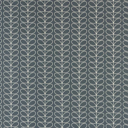Orla Kiely Linear Stem Fabric, Cool Grey