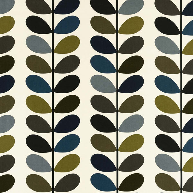 Orla Kiely Multi Stem Fabric, Moss
