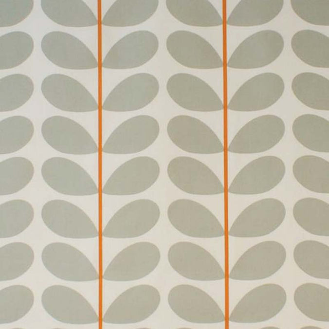 Orla Kiely Two Colour Stem Fabric, Warm Grey