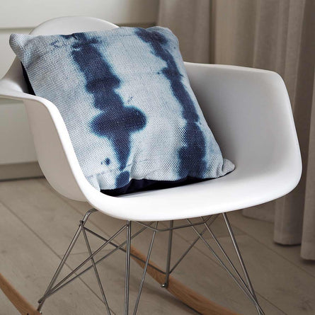 Malini Rana Tie Dye Cushion, Blue 45x45cm