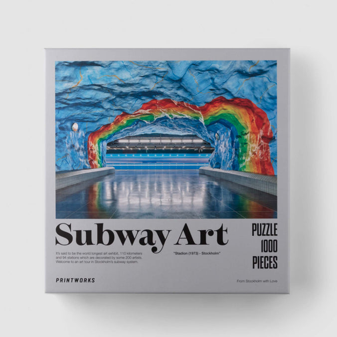 Printworks Jigsaw Puzzle, Subway Art Rainbow