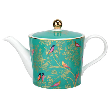 Sara Miller Chelsea Collection Green Birds Teapot 1.1L