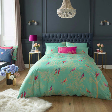 Sara Miller Green Birds Bedding