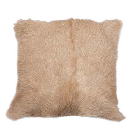 Malini Goat Fur Cushion, Beige 45x45cm