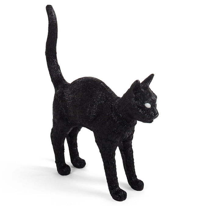 Seletti Jobby the Cat LED Lamp, Black