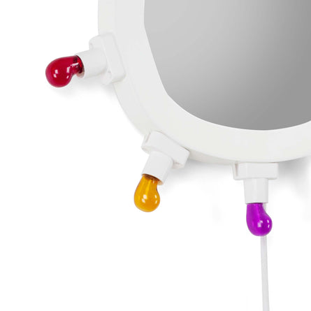 Seletti Luminaire Wall Mirror with Bulbs